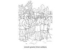 Abraham Lincoln Greets Union Soldiers Worksheet