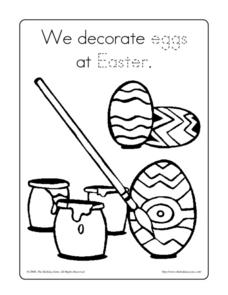Decorating Eggs Worksheet
