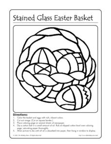 Stained Glass Easter Basket Worksheet