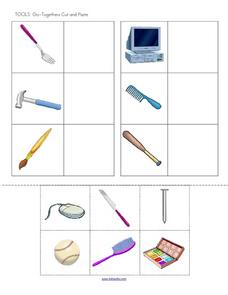 Tools Go-Togethers Cut and Paste Worksheet