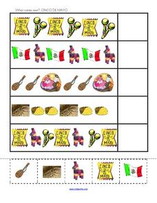 What Comes Next? Cinco De Mayo Worksheet