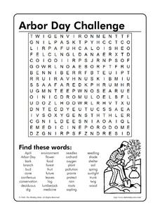 Arbor Day Challenge Worksheet