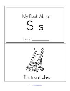 My Book About Ss Worksheet