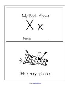 My Book About Xx Worksheet