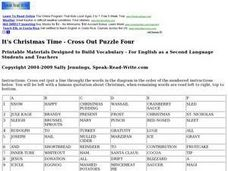 It's Christmas Time - Cross Out Puzzle Four Worksheet
