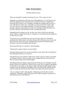 The Wedding - Reading Comprehension Worksheet