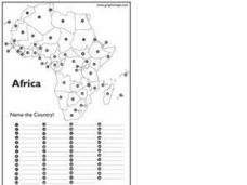 Africa Test Map Worksheet