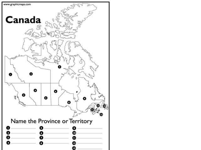 Provinces and Territories of Canada Lesson Plans