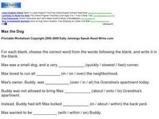 Max The Dog: Vocabulary Worksheet