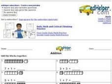 Addition with Counters 2 Worksheet