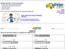 Addition: Missing Numbers 2 Worksheet