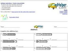 Addition Facts: Counters Worksheet