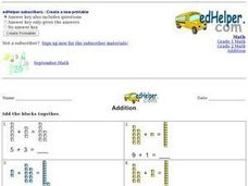 Addition: Adding Blocks Worksheet
