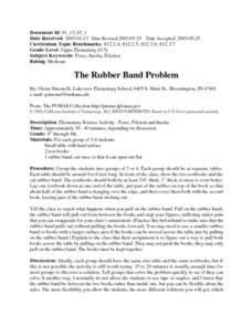 The Rubber Band Problem Lesson Plan