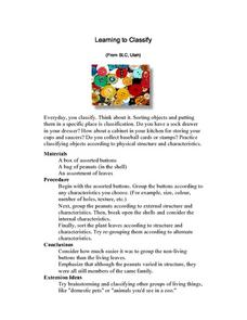 Learning to Classify Lesson Plan