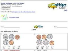 Coins - How Much? Worksheet