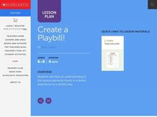 Create a Playbill! Lesson Plan