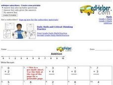Addition - Single Digits Worksheet