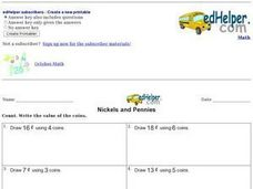 Nickels and Pennies 2 Worksheet