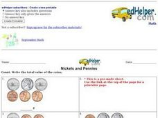 Nickels and Pennies 3 Worksheet