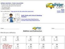 Addition and Subtraction 6 Worksheet