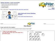 How Many?, #5 Worksheet