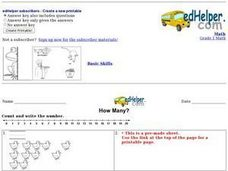 How Many?, #6 Worksheet
