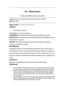Air...What Gives? Lesson Plan