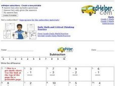 Subtraction 1 10 #4 Worksheet