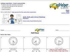 Half-Hour #2 Worksheet
