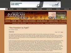 The Freedom to Fight Lesson Plan