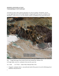Geomorphology of Arid Landscapes Worksheet