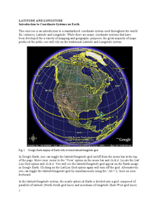 Introduction to Coordinate Systems on Earth Worksheet