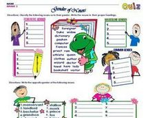 Gender of Nouns: Grade 2 Worksheet