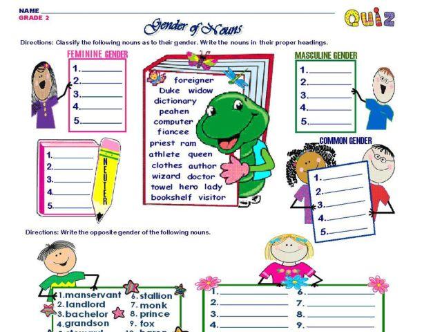 Gender Of Nouns Lesson Plans Worksheets Reviewed By Teachers. Gender Of Nouns Grade 2. Worksheet. Identifying Gender Of Nouns Worksheet At Clickcart.co