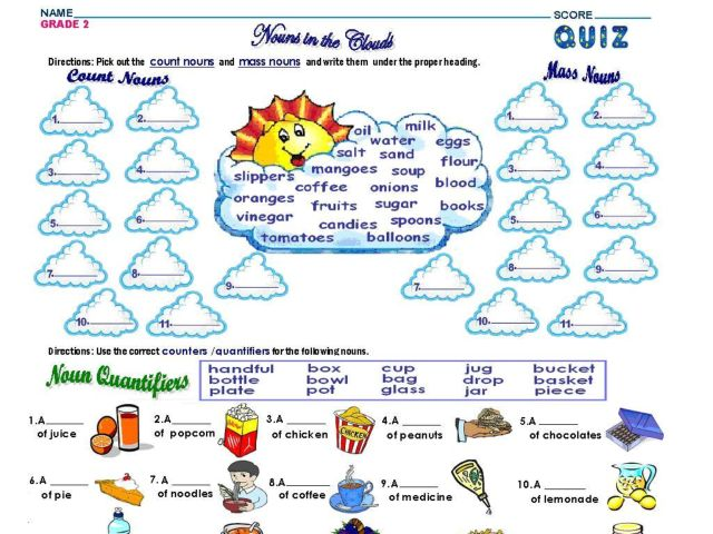 Mass and Count Nouns Lesson Plans & Worksheets Reviewed by Teachers