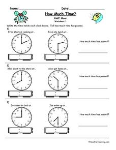 How Much Time? Worksheet