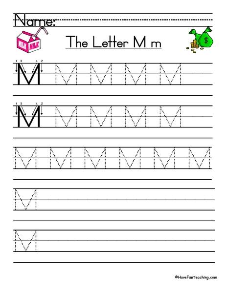the letter mm handwriting practice worksheet for 1st 2nd grade lesson planet. Black Bedroom Furniture Sets. Home Design Ideas