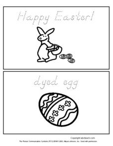 Happy Easter Mini Book Worksheet