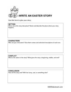Write an Easter Story Lesson Plan