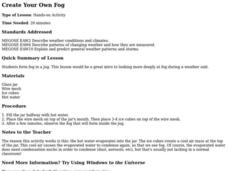 Create Your Own Fog Lesson Plan
