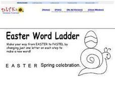 Easter Word Ladder 3 Worksheet