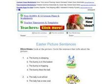 Easter Picture Sentences Worksheet