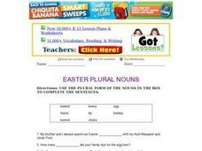 Easter Plural Nouns Worksheet