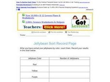 Jelly Bean Sort Record Page Worksheet