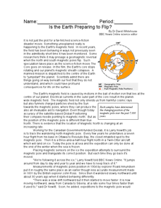 Is the Earth Preparing to Flip? Worksheet