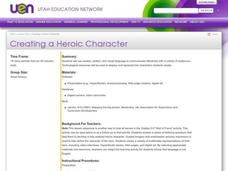 Creating a Heroic Character Lesson Plan