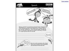 Speech Worksheet