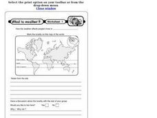 Weather and Locality Worksheet