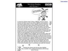 Non-Fiction Reading and Writing Worksheet